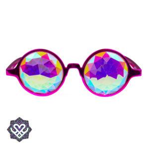 roze caleidoscoop bril