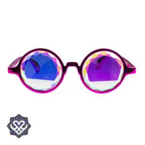 roze kaleidoscope bril