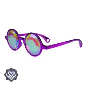 zijkant kaleidoscoop festivalbril