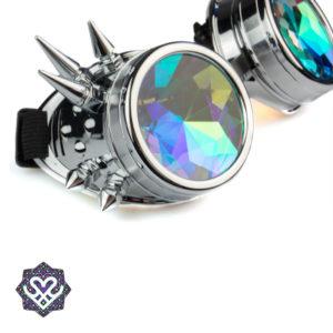 zilver caleidoscoop goggle