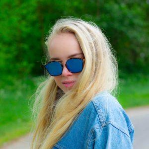 Bril online kopen blauw