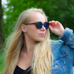 Celine zonnebril retro blauw