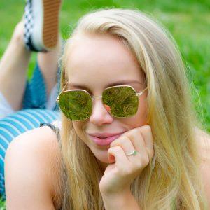 Rose zonnebril vrouwen