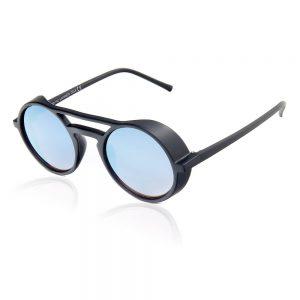blauwe spiegelglazen zonnebril