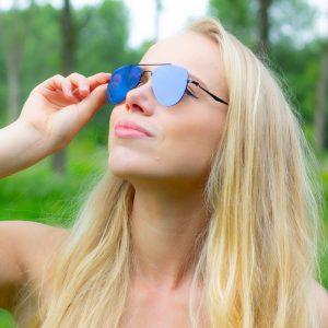 blauwe zonnebril dames