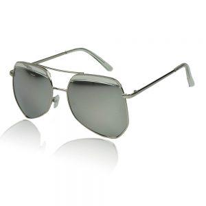 dames zonnebril zilveren glazen