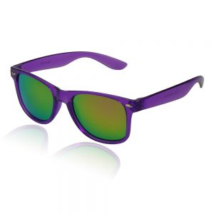paarse wayfarer zonnebril