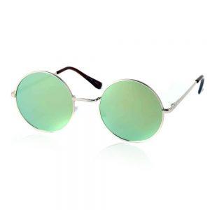 ronde glazen zonnebril